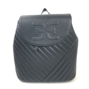 Sam Edelman Black Quilted Backpack